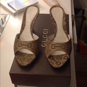 Gucci T.Morsetto Jacquard small beige and ebony